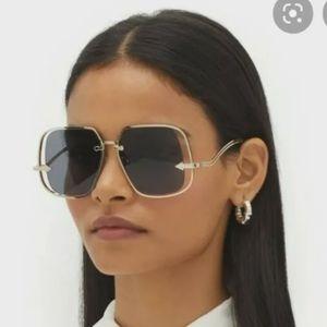 Karen Walker Hypatia Sunglasses Square Yellow Gold